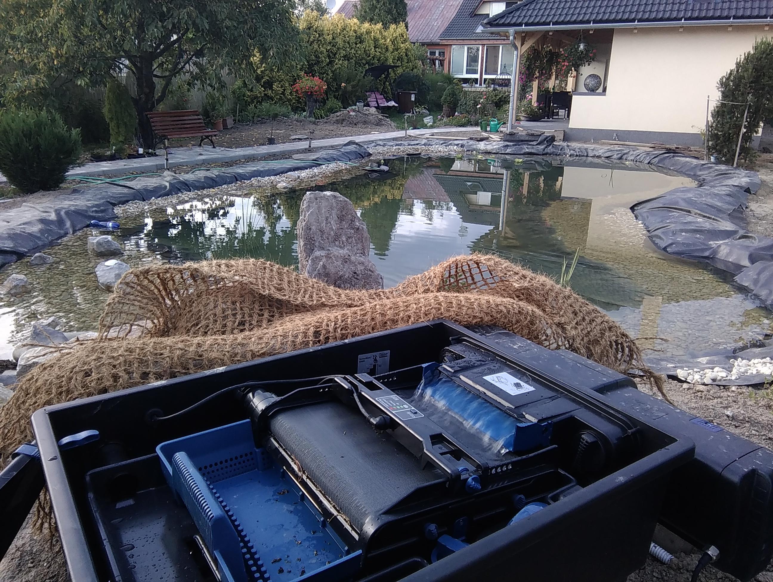záhradné jazierko technológie